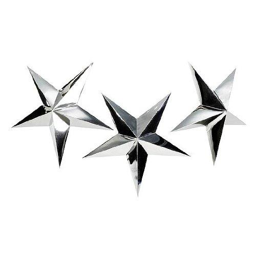DekoWoerner Faltstern 75cm Silber metallic//Z