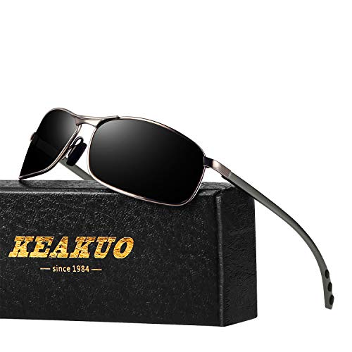 Rectangular Sports Polarized Sunglasses for Men - KEAKUO Mens Sunglasses 100% UV Protection KE1901 ()