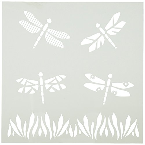 Plaid Dragonfly - FolkArt Painting Stencil, 30621 Dragonflies