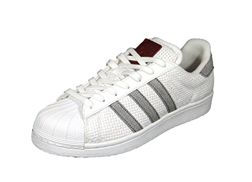 Hombre de Blanco Tela Blanco para Zapatillas adidas wpHqIq6