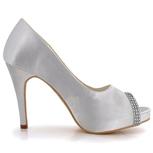 Kevin Fashion - Zapatos de boda fashion mujer blanco