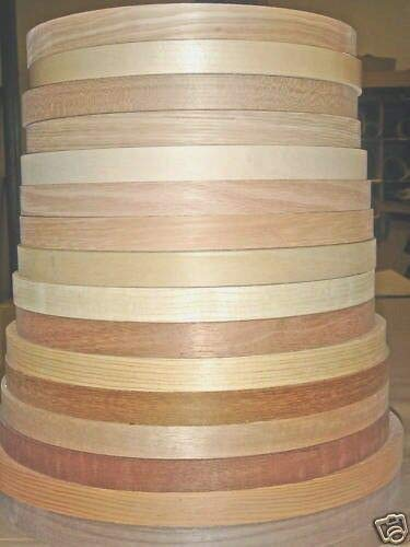 (Wood veneer edgebanding Ash Birch Cherry Maple Red Oak in 7/8