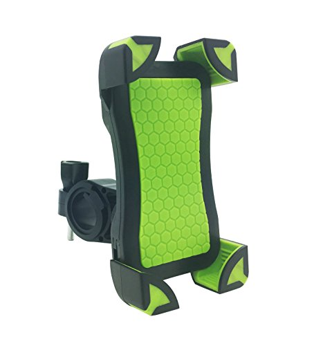 Universal Bike Motorcycle Phone Mount Holder Support Like Eagle Talon 360°Rotation Anti-Slip Stand For iPhone Samsung Galaxy HTC Nokia And GPS Device Up to 7 inch Green