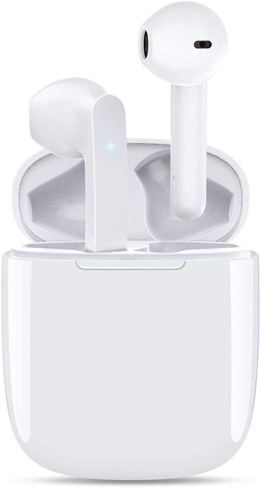 Auriculares Inalámbrico IPx5 Auriculares intrauditivos a Prueba de Sudor 3D Estéreo Impermeable Touch Sports con micrófono y Estuche de Carga portátil para Android/iPhone/Samsung/Huawei