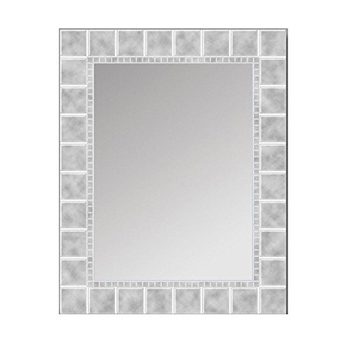 35.5 in. L x 23.5 in. W Large Glass Block Rectangle Wall Mirror by Block Rectangle