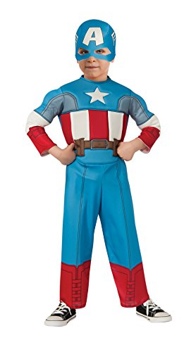 [Rubie's Costume Baby Boy's Marvel Classics Avengers Muscle Chest Captain America, Multi, Toddler] (Captain America Boys Costumes)