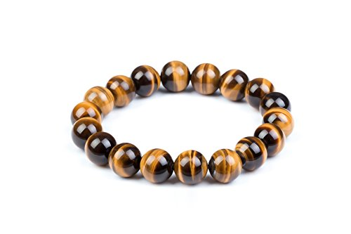 Mens Womens 6-20mm Beads Brown Tiger Eye Beaded Lucky Gemstone