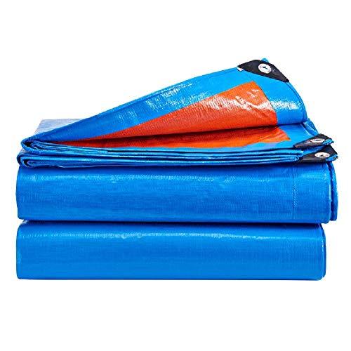 (ATR Tarpaulin Tarpaulin Sponge Sunscreen Sunshade Awning Poncho Canvas Raincoat Linoleum Polyester Spun Truck Outside (Color: Blue, Size: 4,8 3,8M))