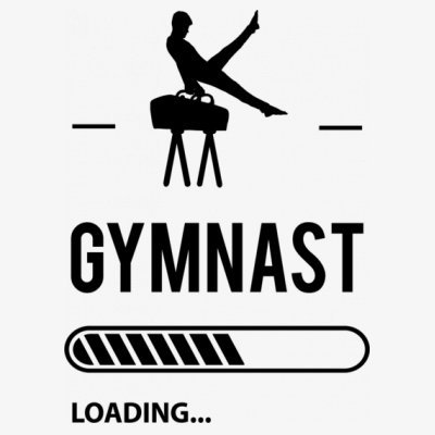 Sudadera con capucha de mujer Gymnast Loading by Shirtcity Blanco