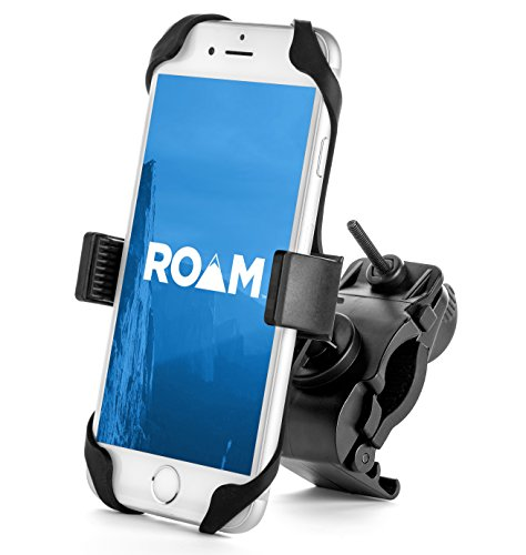 Roam Universal Premium Bike Phone Mount Holder for Motorcycle / Bike Handlebars, Adjustable, Fits iPhone 6s / 6s Plus, iPhone 7 / 7 Plus, Galaxy S7, Holds Phones Up To 3.5