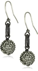 Deanna Hamro Atelier 10mm Pave Ball Single Link Drop Earrings