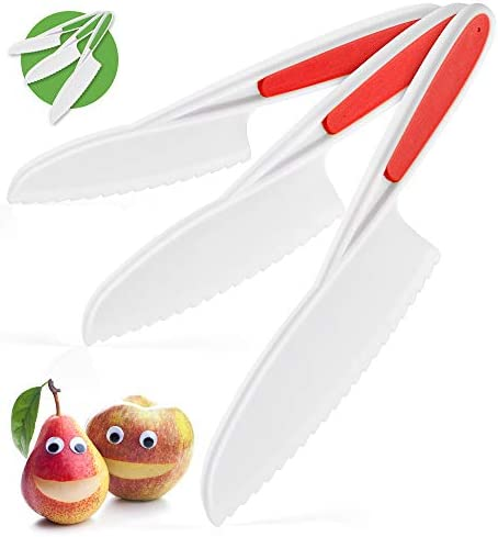 Zulay Kids Knife Set for Cooking and Cutting Fruits, Veggies, Sandwiches & Cake – Perfect
