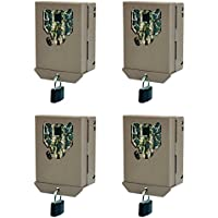 Stealth Cam PX Series Game Trail Camera Steel Security Case Box, 4 Pack | BBPX