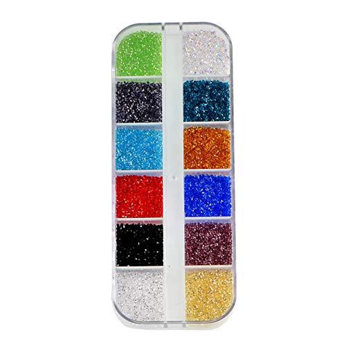 Nancybeads Sparkly Micro Rhinestones Mini Rhinestones Tiny Rhinestones Nail Art Gems Nail Decorations (Mixed 12 Color SS3 1.2mm 17280pcs)