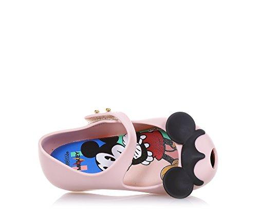 MINI MELISSA - Ballerine Ultragirl + Disney rose clair et noire, made in Brazil, avec un motif de Minnie et Mickey Mouse, Fille, Filles