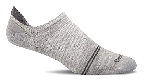 (Sockwell Men's Pacer Ultra Light Micro with Firm Run Support Socks, Grey, Medium/Large)