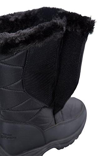 Mountain Mujeres Botas Negro Peluche Ice Con Warehouse De Para Nieve 50rf0qOwxP