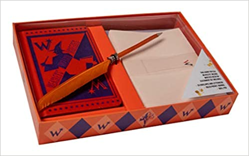 harry potter weasleys wizard wheezes desktop stationery set with pen