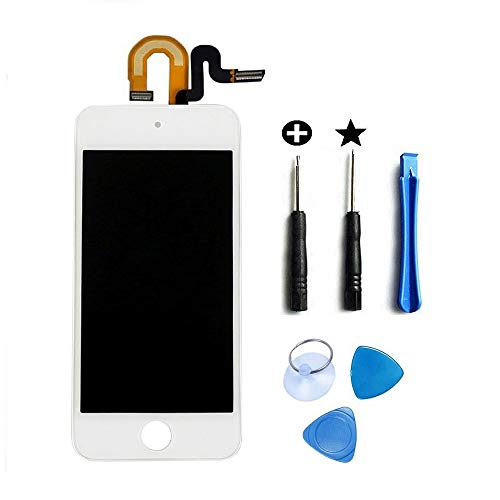LCD Display Touch Screen for iPod Touch 5 6th Gen Digitizer Assembly + Repair Tools and Install Guiding (White) ()