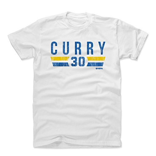 500 LEVEL Steph Curry Cotton Shirt Medium White - Vintage Golden State Basketball Men's Apparel - Steph Curry Golden State Font B