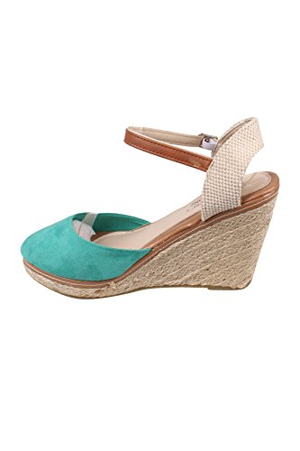 Sandalias de Mujer emeraude Vestir Creamberry Verde S Vert p54qCw8x
