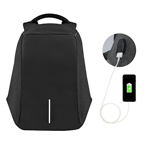 Travel Outdoor Computer Backpack Laptop Bag (Black) - 7