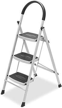 BOC Taburete, escalera doméstica, escalera plegable de tres peldaños, escalera interior de engrosamiento: Amazon.es: Bricolaje y herramientas