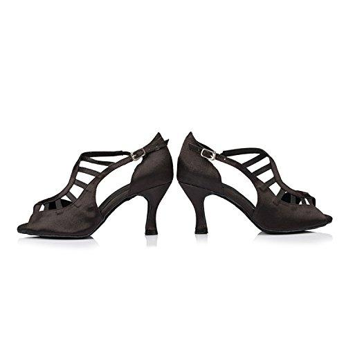 Salle Miyoopark femme 8cm Black de heel bal BnnwaqHF8