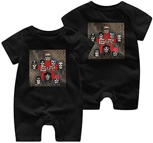 最新の人気の赤ちゃん統合半袖 0-2歳の赤ちゃん半袖 Guns N' Roses 綿100%の赤ちゃんのジャンプスーツの男性の赤ちゃんの女性の赤ちゃん、赤ちゃんの半袖