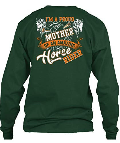 (Cool-I'm A Proud Mother T Shirt, Amazing Horse Rider T Shirt Long (XL,Forest))