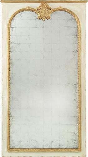 John Richard Wall Mirror PIER Acanthus Leaves Carved Motif Beaded Frame