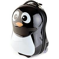 BRUBAKER Penguin Suitcase Luggage for Kids