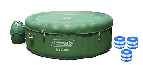 Coleman Lay-Z-Spa Inflatable 4-Person Hot Tub w/ Six Filter (Coleman Spa Pumps)