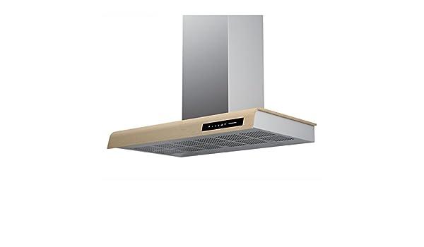 frecan – Campana Decorativa Pared Styl – acero inoxidable y madera: Amazon.es: Grandes electrodomésticos