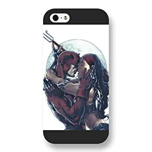 UniqueBox Customized Marvel Series Case for iPhone 5 5S, Marvel Comic Hero Elektra iPhone 5 5S Case, Only Fit for Apple iPhone 5 5S (Black Frosted Case)