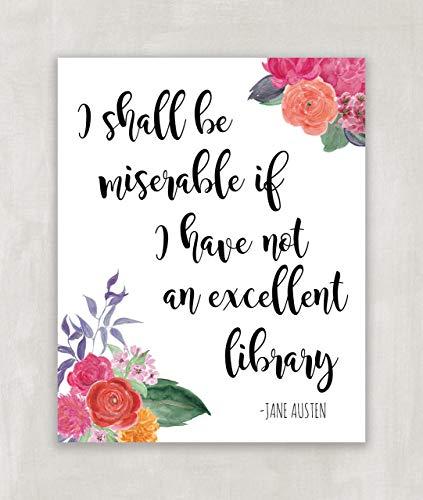 Amazon.com: Jane Austen Quote, Pride and Prejudice, Wall Art ...