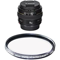 Canon EF 50mm f/1.4 USM Standard & Medium Telephoto Lens for Canon SLR Cameras - Fixed Filter Bundle