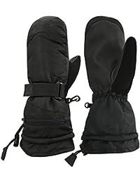 Unisex Adult 100 Gram Thinsulate Extreme Cold Weather Waterproof Winter Ski Mitten or Glove