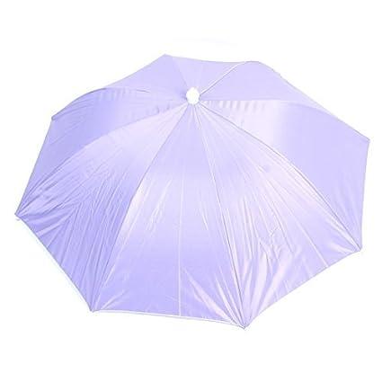 eDealMax Oxford recorrido al aire Libre Ajustable de la Pesca jardinería paraguas plegable Sombrero púrpura
