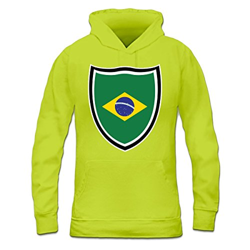 Sudadera con capucha de mujer Brazil Shield by Shirtcity verde limón