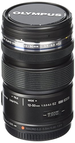 Olympus M.Zuiko Digital ED 12-50mm F3.5-6.3 EZ Lens, for Micro Four Thirds Cameras (Black) (Best Telephoto Lens For Micro Four Thirds)