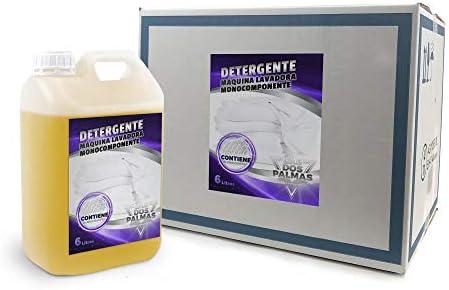Las 2 Palmas Detergente Máquina Lavadora Monocomponente, Amarillo ...
