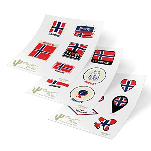 - Norway Country Flag Stickers Decals 3 Sheets 17 Total Pieces Kids Logo Scrapbook Car Vinyl Window Bumper Laptop 3 Sheets