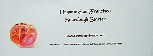 Organic San Francisco Sourdough Starter Bread Maker Kit (Make Your Own Sourdough Starter Without Yeast)
