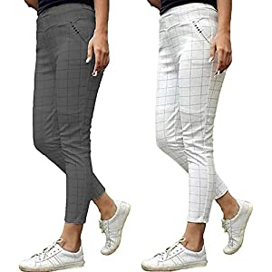 The Secret Boutique Women's Regular Fit Jeggings (Jeggings_020_Grey_Free Size)