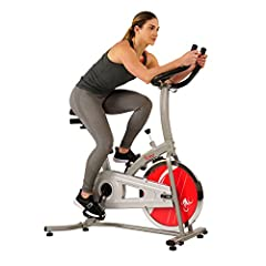 Effective, Durable and Comfortable are the three main advantages of Sunny Health & Fitness SF-B1203 Chain Drive Indoor Cycling Bike. Starts pedaling towards fitness with the stationary bike that offers a smooth, quiet and lasting ride eve...