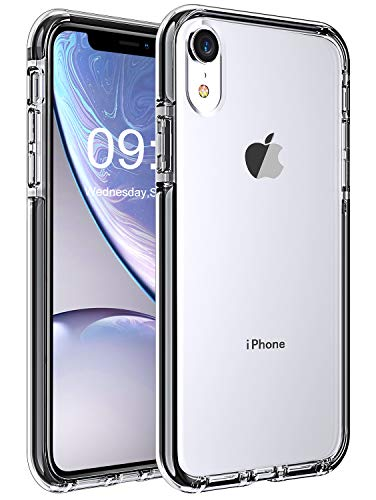 Stoon iPhone XR Case, [Crystal Clear] [Shockproof] Slim Protective Case Soft TPU Anti-Scratch Phone Case Cover with Elastic TPE Interior Lining Edge Compatible with iPhone XR 6.1 inch (2018) (Clear)
