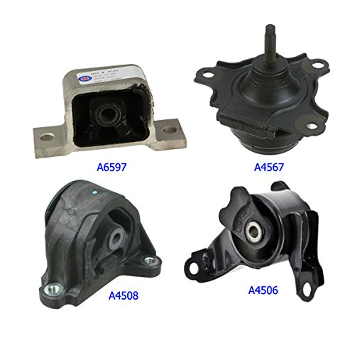 2002-2006 Acura RSX 2.0L Engine Motor Mount for Auto Transmission 4 PCS A6597, A4567, A4508, A4506 ()