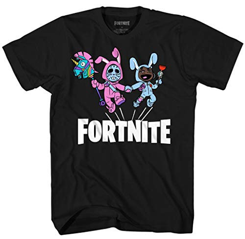 Fortnite Bunny Brawler and Rabbit Raider Bunny Trouble Men's Graphic T-Shirt XS Black