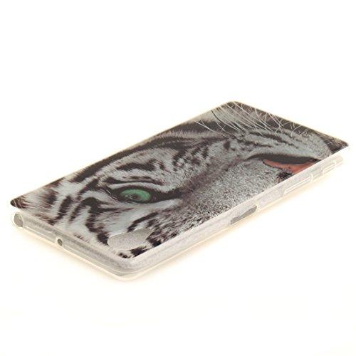 Slim Fit Antichoc Téléphone Scratch De Silicone Transparent Cas De En TPU Souple Peint Protection Cas Sony Couverture Hozor X Xperia leopard Résistant Bord Arrière Performance Motif ZOnaR6
